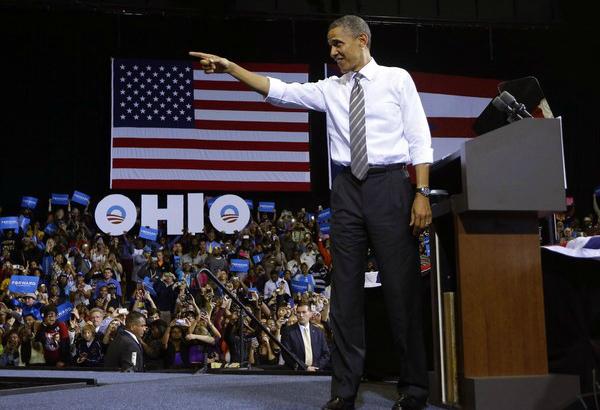 President Barack Obama in Kent, OH on September 26, 2012