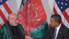 President Obama meeting Afghanistan President Hamid Karzai