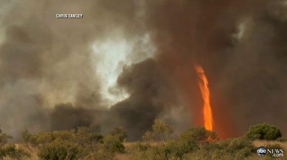 Firenado in Australia