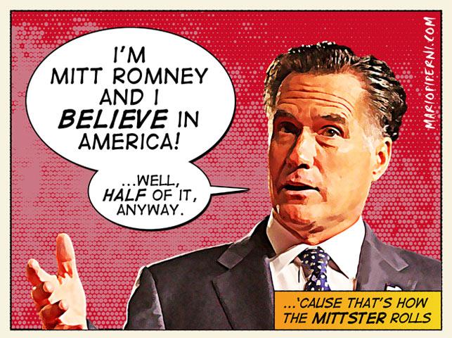 Mitt Romney: I believe in half of America anyway