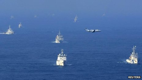 Both China and Japan dispatched ships to the disputed islands