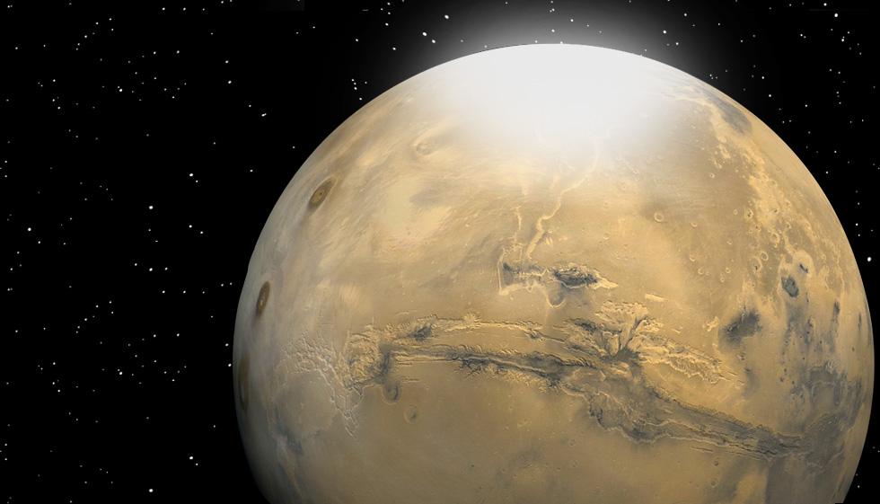 Martian snow