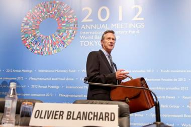 In this Reuters photo, International Monetary Fund Economic Counsellor and Director of Research Department Olivier Blanchard enters a news briefing in Tokyo October 9, 2012.