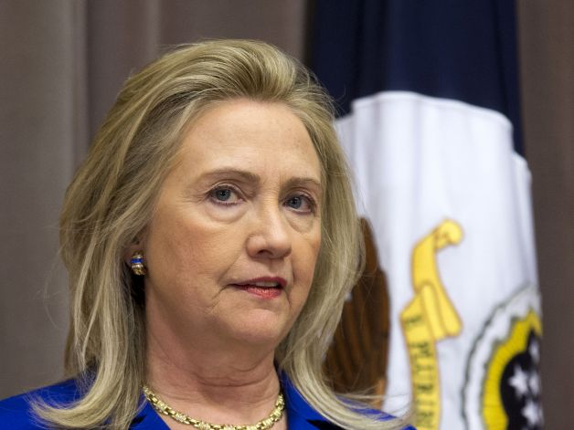 In this Oct. 2, 2012 file photo, Secretary of State Hillary Rodham Clinton speaks at the State Department in Washington. Photo: AP