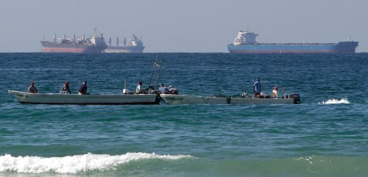 Oil tankers in the Strait of Hormuz. Photo: AP