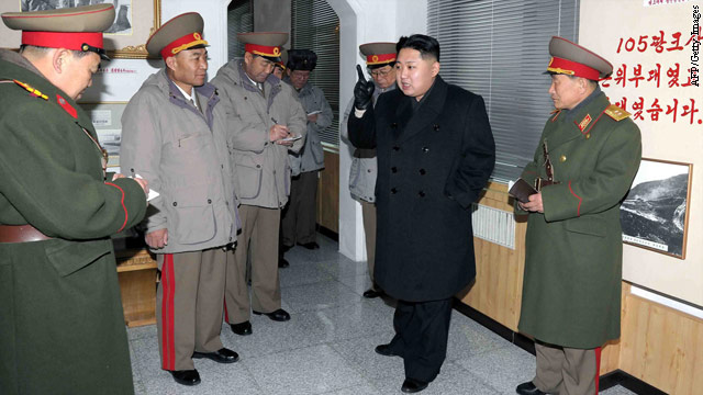 Kim Jong Un is shown inspecting the Seoul Ryu Kyong Su 105 Guards Tank Division of the Korean People's Army earlier this year in this photo taken by North Korea's official news agency.