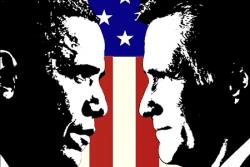 Barack Obama versus Mitt Romney for the White House 2012.