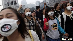 Papers note an increase in environmental protests as Chinese citizens grow tired of sacrificing healthy living for relentless economic growth. Credit: Reuters