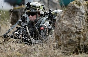 A US soldier participates in a training exercise at the US Army's Joint Multinational Readiness Center near Hohenfels, Germany. Credit: Getty Images