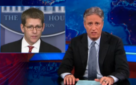 Jon Stewart asks members of the Obama administration if they ever talk to each other, in reference to their mixed messages on the Benghazi attack.