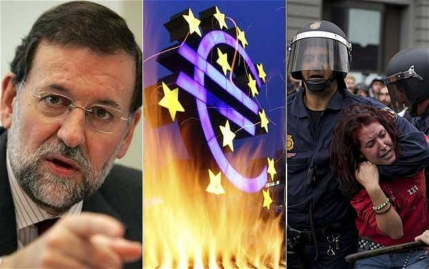 Rating agency Standard & Poor's has downgraded Spain's credit rating by two notches, warning that the deepening economic recession is limiting the government's options.