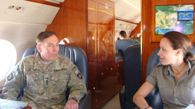 IMAGE: David H. Petraeus is said to have had an affair with Paula Broadwell, right, who wrote a biography of him. Credit: Command Sgt. Maj. Marvin L. Hill, via The New York Times