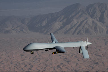 IMAGE: This undated image shows an MQ-1 Predator drone. Credit: Lt Col Leslie Pratt/US Air Force//Reuters