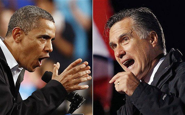 Obama and Romney are battling it out till the end. Credit: Reuters
